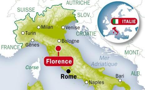 Carte de Florence en Italie