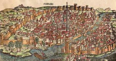 Carte ancienne de Florence