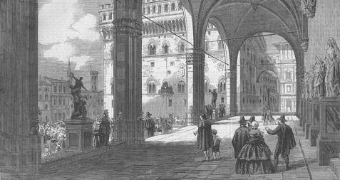 Place du peuple à Florence