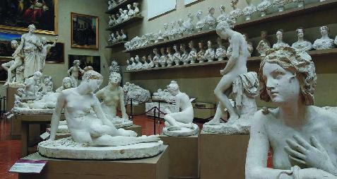 Sculptures Galerie Académie Florence