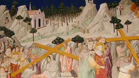 Legende de la Sainte Croix Santa Croce Florence