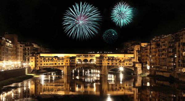 Feu d'artifice Florence