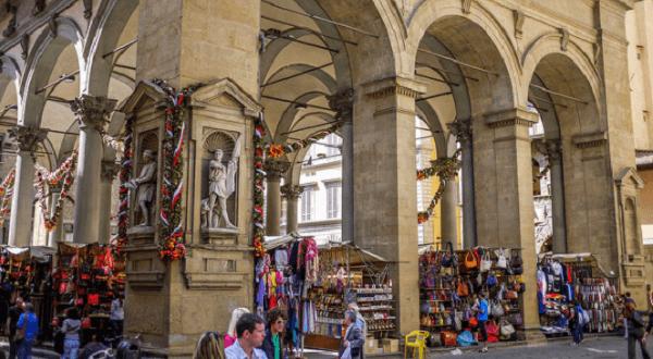 Marché florence arcades