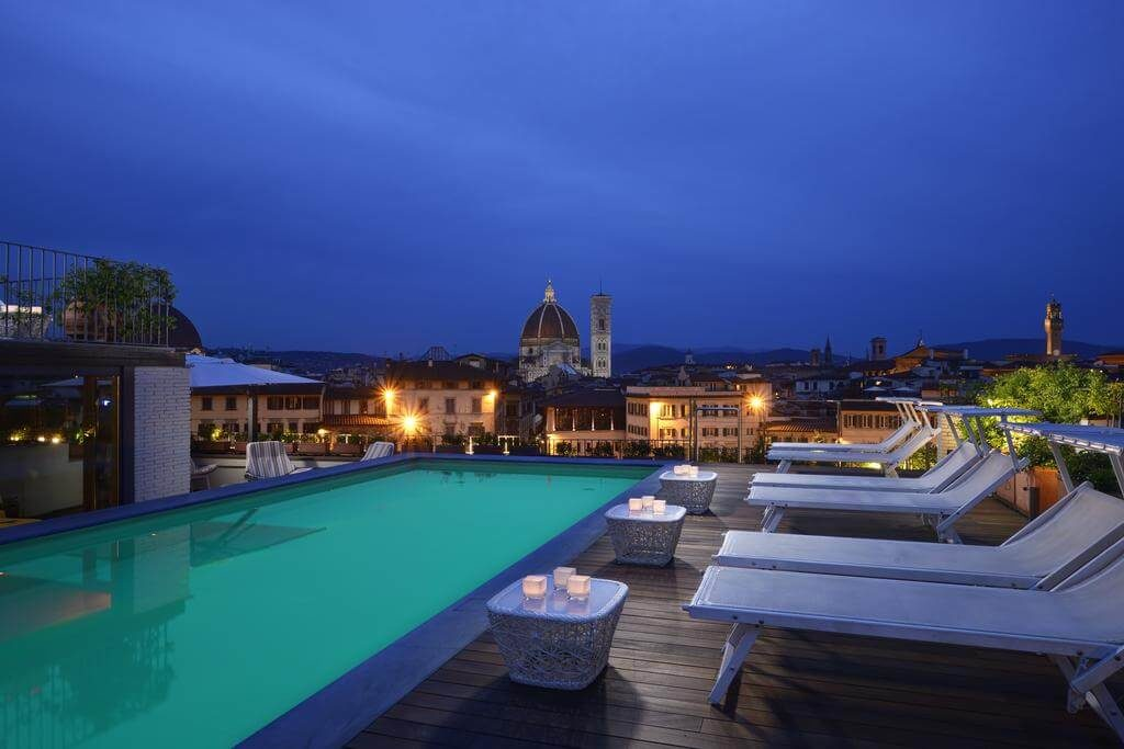 Hotel Minerva Terrasse Soirée Florence