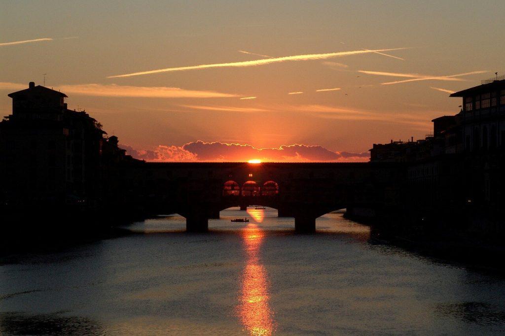 Ponte Vecchio Florence Coucher de Soleil