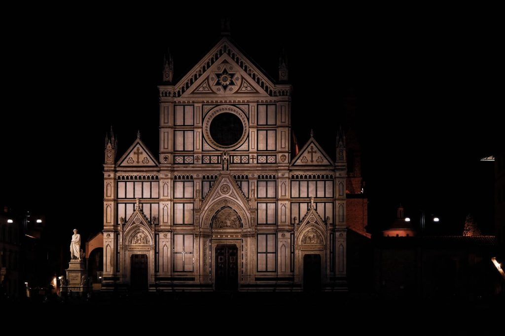 Santa Croce Florence by night